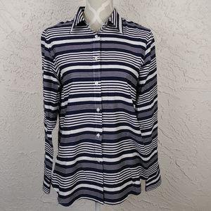 Chaps Ralph Lauren No Iron Navy Striped Shirt